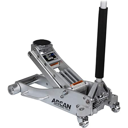 Arcan 3-Ton Quick Rise Aluminum Floor Jack with Dual Pump Pistons & Reinforced Lifting Arm (ALJ3T / A20018)