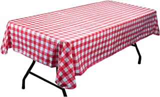 Red and White Vinyl Table Cloth with Flannel Backing by Pudgy Pedro's Party Supplies