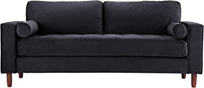 Amazon.com: Rivet North End Modern Wood Accent Sectional ...