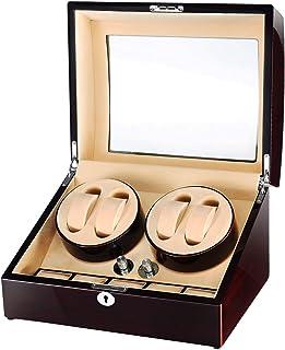 حامل ساعة SAMWOO خشبي أوتوماتيكي مع محرك مابوشي ياباني هادئ ووسادات ناعمة، صندوق تزيين الساعات