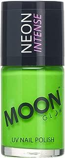 Moon Glow - Blacklight Neon UV Nail Varnish 0.48oz Intense Green – Glows Brightly Under Blacklights/UV Lighting!