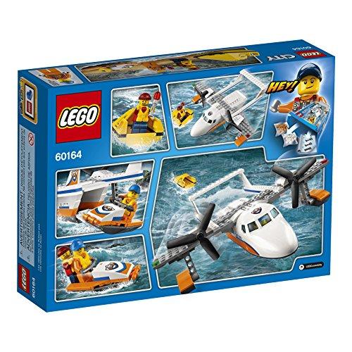 Ensemble de Construction LEGO City - Avion de Sauvetage en Mer de la Garde Côtière, 141 pièces - 2