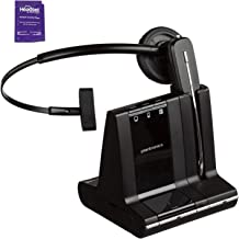 Plantronics Savi W740 Wireless Headset System Bundle with Headset Advisor Wipe (Renewed)