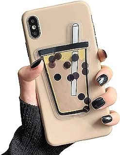 UnnFiko 3D Liquid Cartoon Case Compatible with iPhone 7 Plus/iPhone 8 Plus, Super Cute Quicksand Bubble Tea, Soft TPU Rubber Bumper Cover Cool Fun Protective Case (iPhone 7 Plus / 8 Plus)