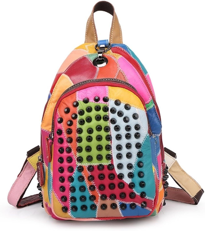 HIFISH HB125281 Genuine Leather Korean Style Women's Handbag,Soft Backpack