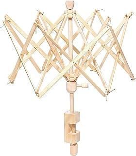 HOUSWEETY ワインディングマシーン 编み機 かせくり器 糸繰り器 糸巻き器 折りたたみ式 ワインディング マシーン ウッド製 編み物などに