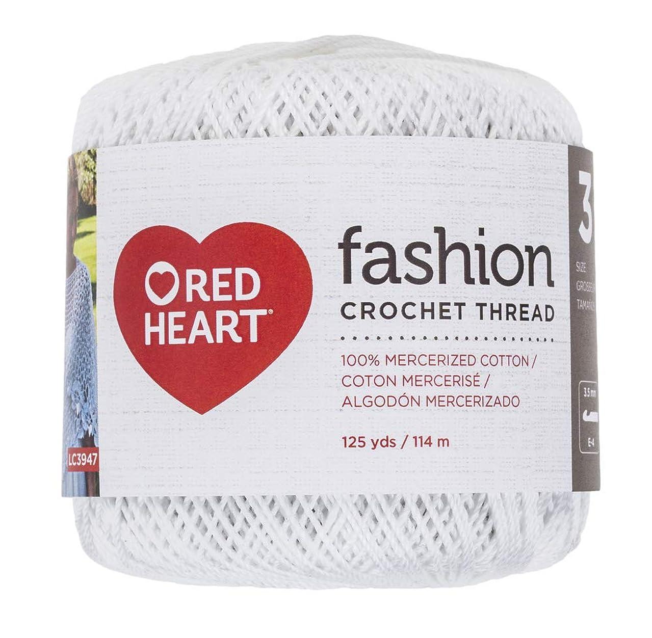 Coats Crochet Red Heart Fashion Crochet, Thread Size 3, White