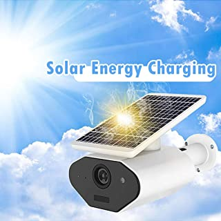 Nesee Wireless Rechargeable Battery-Powered Solar Security Camera for Outdoor Home Surveillance, 1080p HD Two-Way Audio Starlight Night Vision with PIR Motion Sensor SD Card Slot