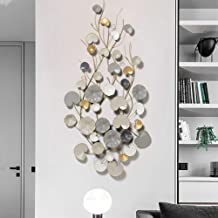 Modern Style Creative Money Grass Metal Wall Decor for Nature Home Art Decoration & Kitchen Gifts - for Study/Living Room/...