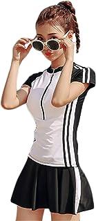 [セイーワイ] 2点水着 レディース スイムウェア ラッシュガード 体型カバー水着 スカート レディース セパレート 日焼け止め水着 長袖 オーバーウェア