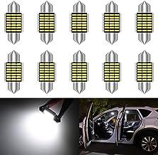 KATUR 31mm Festoon C5W Led Bulbs 6000K White Light Super Bright Chipsets Canbus Error Free for 3175 DE3175 DE3021 3022 302...