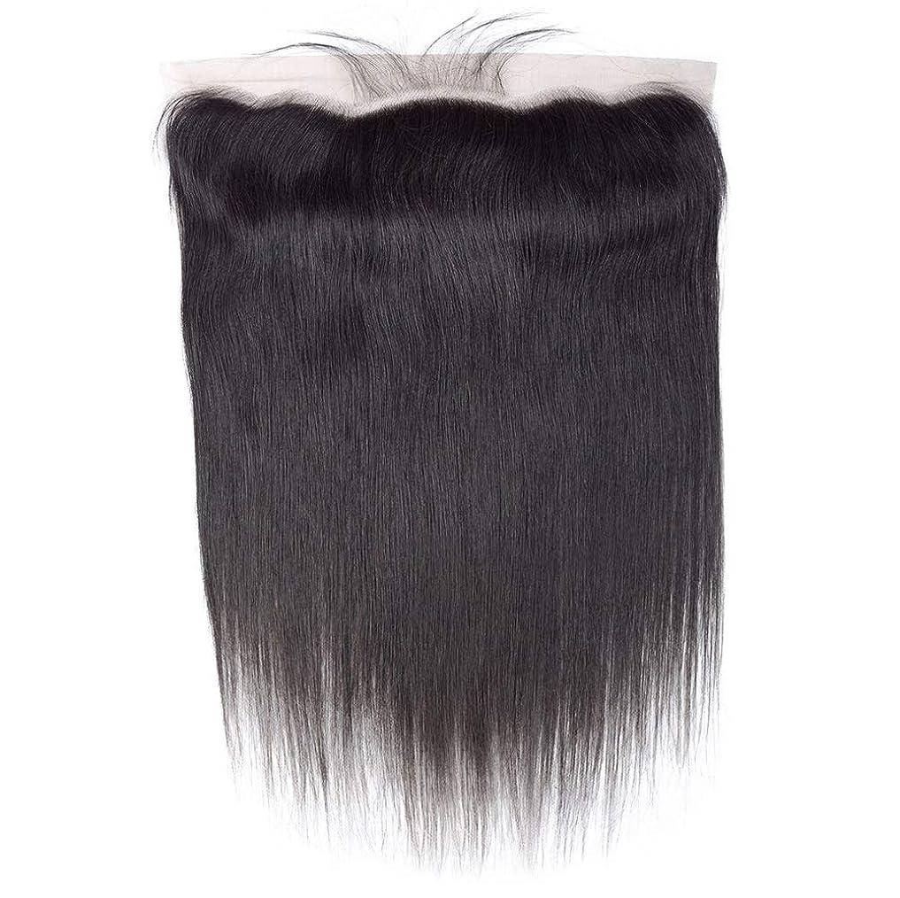 記念碑的なキャンドルに対応する髪の毛ブラジル髪織りまっすぐ人間の髪の毛レース前頭耳に耳13 x 4フリーパーツ前頭葉で赤ん坊の髪漂白ノットナチュラルカラー