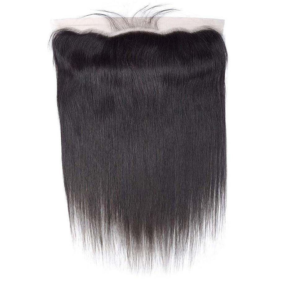 責め過ちジャケット髪の毛ブラジル髪織りまっすぐ人間の髪の毛レース前頭耳に耳13 x 4フリーパーツ前頭葉で赤ん坊の髪漂白ノットナチュラルカラー