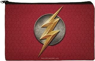 Justice League Movie Flash Logo Pencil Pen Organizer Zipper Pouch Case