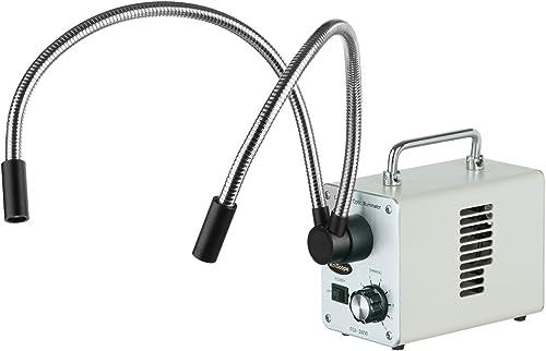 venta Dual-LED AmScope 30WY 30W LED de fibra -ptica de de de cuello de cisne Luces Microscopio Iluminador  sorteos de estadio