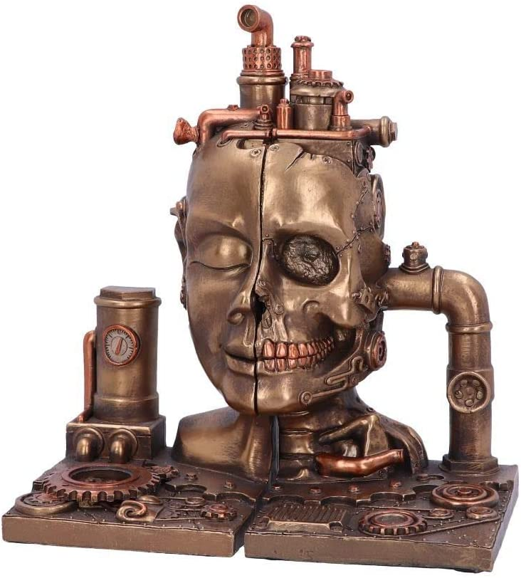 Genuine Split Steampunk New Orleans Mall Bookends