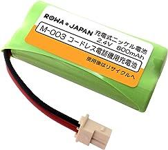 シャープ M-003 パナソニック BK-T406 コードレス 子機 充電池 互換 バッテリー 【大容量 通話時間UP】【ロワジャパン】