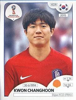 2018 Panini World Cup Stickers Russia #501 Kwon Chang-hoon Korea Republic Soccer Sticker