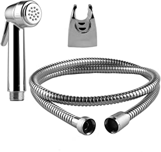 Btcus4 Handheld Bidet Sprayer for Toilet, High Powered Cloth Diaper Sprayer Kit with Stainless Steel Hose,Shower Bracket and Hand Shower Head Self Cleaning, Bidet Faucet - Chrome