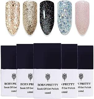 BORN PRETTY Nail Art UV Glitter Gel Polish Soak Off Shining Polish Varnish