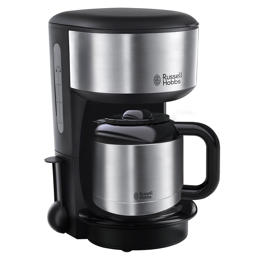 Russell Hobbs 20140-56 Oxford - Cafetera digital térmica con jarra de acero inoxidable, capacidad de 1,1 l, color negro: Amazon.es: Hogar