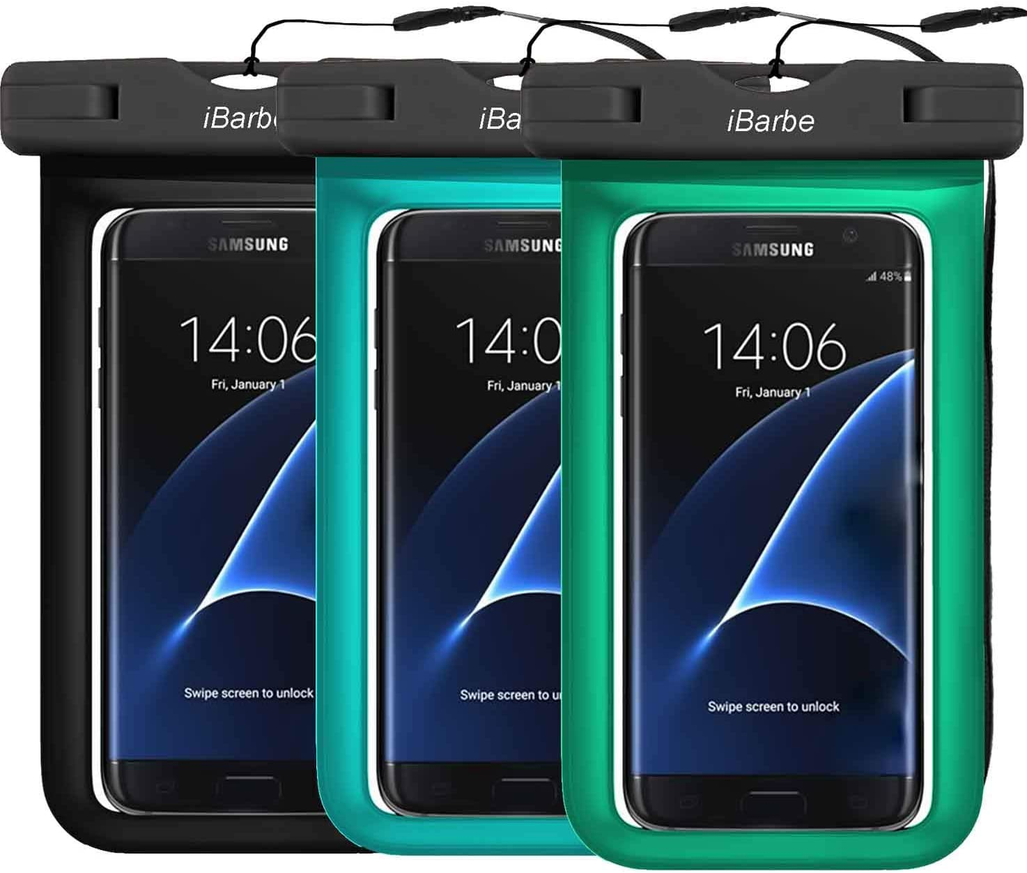 3 Pack IPX8 Universal Waterproof Case Compatible with Phone 11 PRO MAX X XS MAX XR/8/8plus 7/6plus,Galaxy S9 s8 Smartphone diagonal to 6.3
