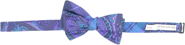 Edward Armah Men's Fox Double Sided Checks and Paisley Silk Bow Tie