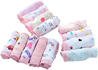 Weixinbuy Kids Baby Girl's Panties Underpants Cotton Underwear Briefs Knickers (Pack of 12)