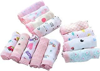 Weixinbuy Kids Baby Girl's Panties Underpants Cotton Underwear Briefs Knickers (Pack of 12)
