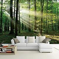 カスタム3D写真壁紙森日光緑の森壁画寝室リビングルームソファテレビ背景壁画3D-200x140cm