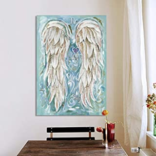 glitter angel wings wall art