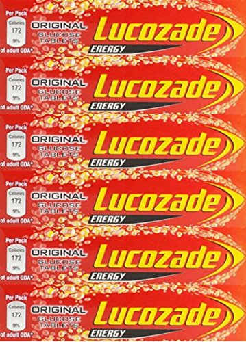 Lucozade Energy Original Glucose Tablets 47g x 6 Packs