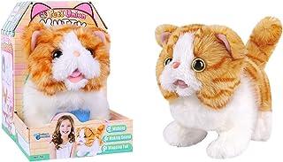 Lelia Toy Plush Cat That Walk Meow Wags Tail Interactive Stuffed Animal Kitten Electronic Furreal Pet Baby Robot Cat Toy G...