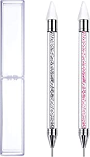 Tatuo 2 Pieces Rhinestone Picker Dotting Pen, Dual-ended Rhinestone Gems Crystals Studs Picker Wax Pencil Pen Crystal Beads Handle Manicure Nail Art DIY Decoration Tool
