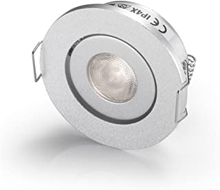 Pack of 10 LED Mini Small spotlights Fixtures/Recessed Spotlight Ceiling Downlight Recessed Lamps for Cree 3W Warm White 3000K + Driver