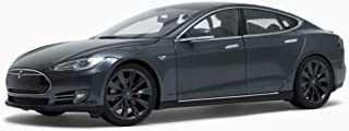 Tesla Motors 1:18 Scale Diecast P85 Model S Midnight Silver Metalic Car