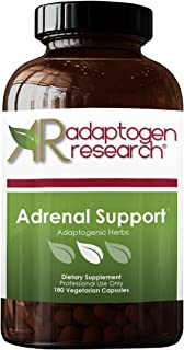 Adrenal Support Formula | Adaptogenic Herbs & Nutrients with Licorice | Cortisol Manager | 180 Vegetarian Capsules | Adapt...