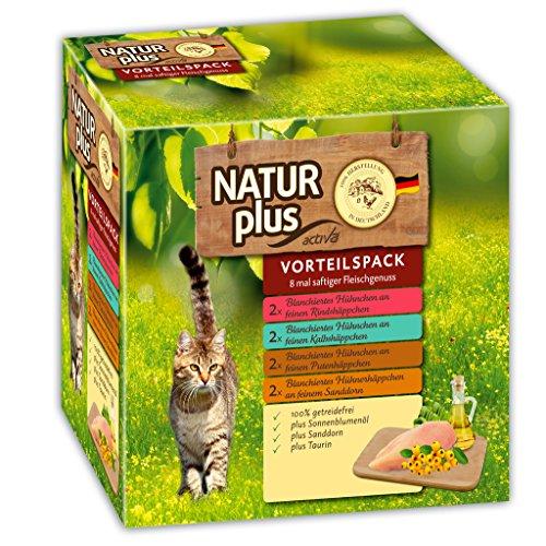 Natur Plus Katzenfutter Vorteilspack - Rind, Kalb - 8 x 85g