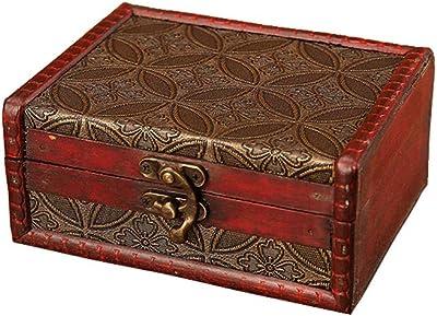 Baozoon Caja De Tesoros Decorativa Para El Hogar Confección De Madera Para Caja De Regalo Decoración Del Hogar 2 2 X 1 8 X 1 0 In Home Improvement