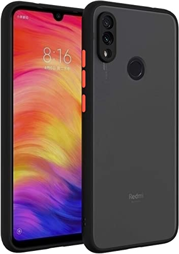 ANVIKA Realme 3 Pro Smoke Case Phone Cover Hard Matte Finish Smoke Case with Soft Side Frame Fit Protective Back Cover for Realme 3 Pro Black