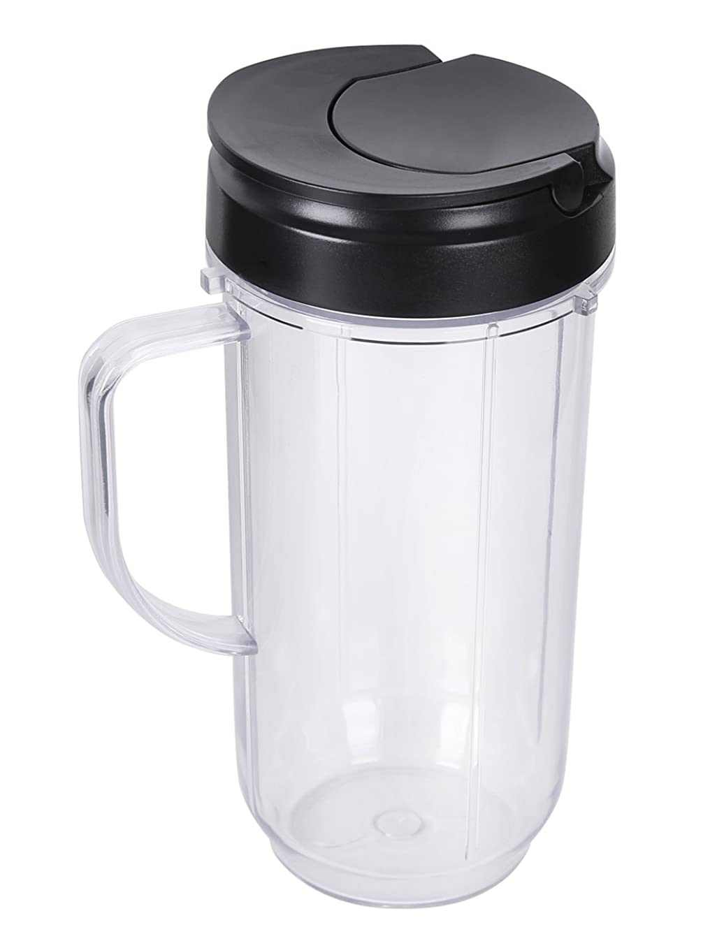 Yesurprise Replacement Part Flip Top Lids + 22oz Tall cups for 250w Magic Bullet Mugs & Cups Blender Juicer Mixer