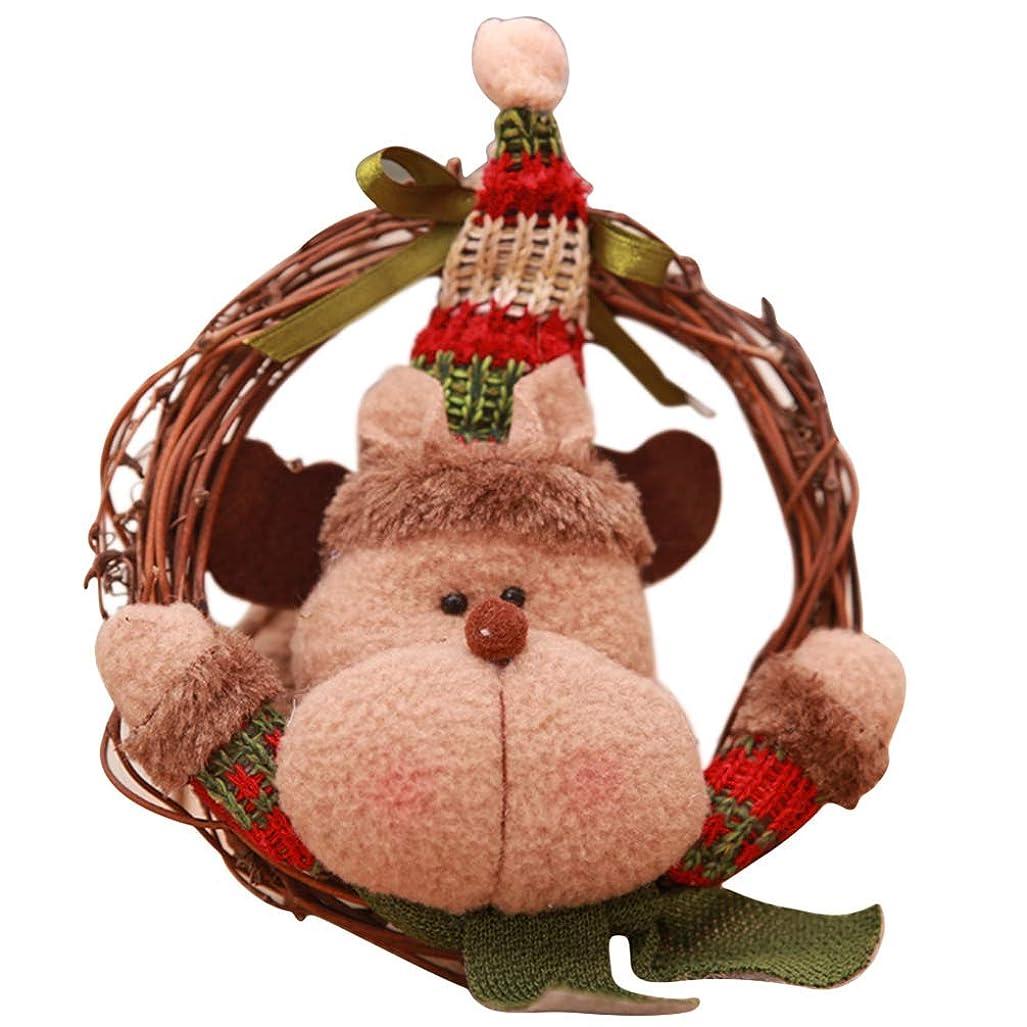 手段ロール合わせてToporchid クリスマスデコレーション用品ガーランドラタンツリーハンギングオーナメント(エルク)