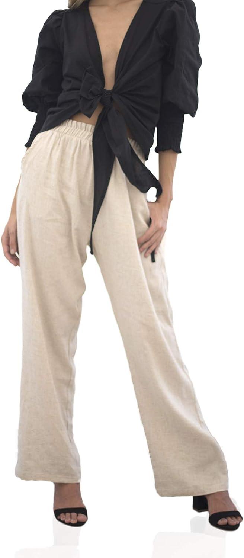 Mercedes Campuzano Women's Stretch Elastic Waist Pull-On Fatima Pant