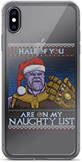 Half of You are On My Naughty List Pure Clear Case Cover for iPhone Xs Max