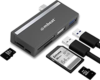 USB-C Hub, mbeat 5-in-1 Essential USB C Hub Adapter, features 1 x USB-C port, 1 x USB 2.0 Port, SD and Micro SD TF Card Re...