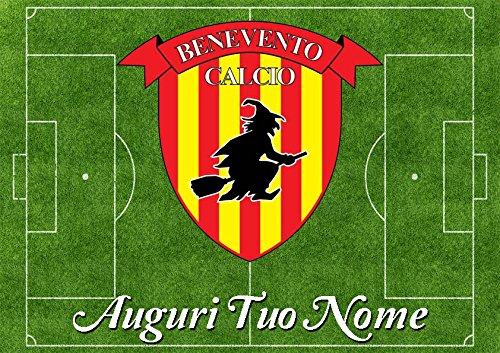 Partycolare Cialda per Torta Campo da Calcio Scudetto Benevento- da Personalizzare - campo002
