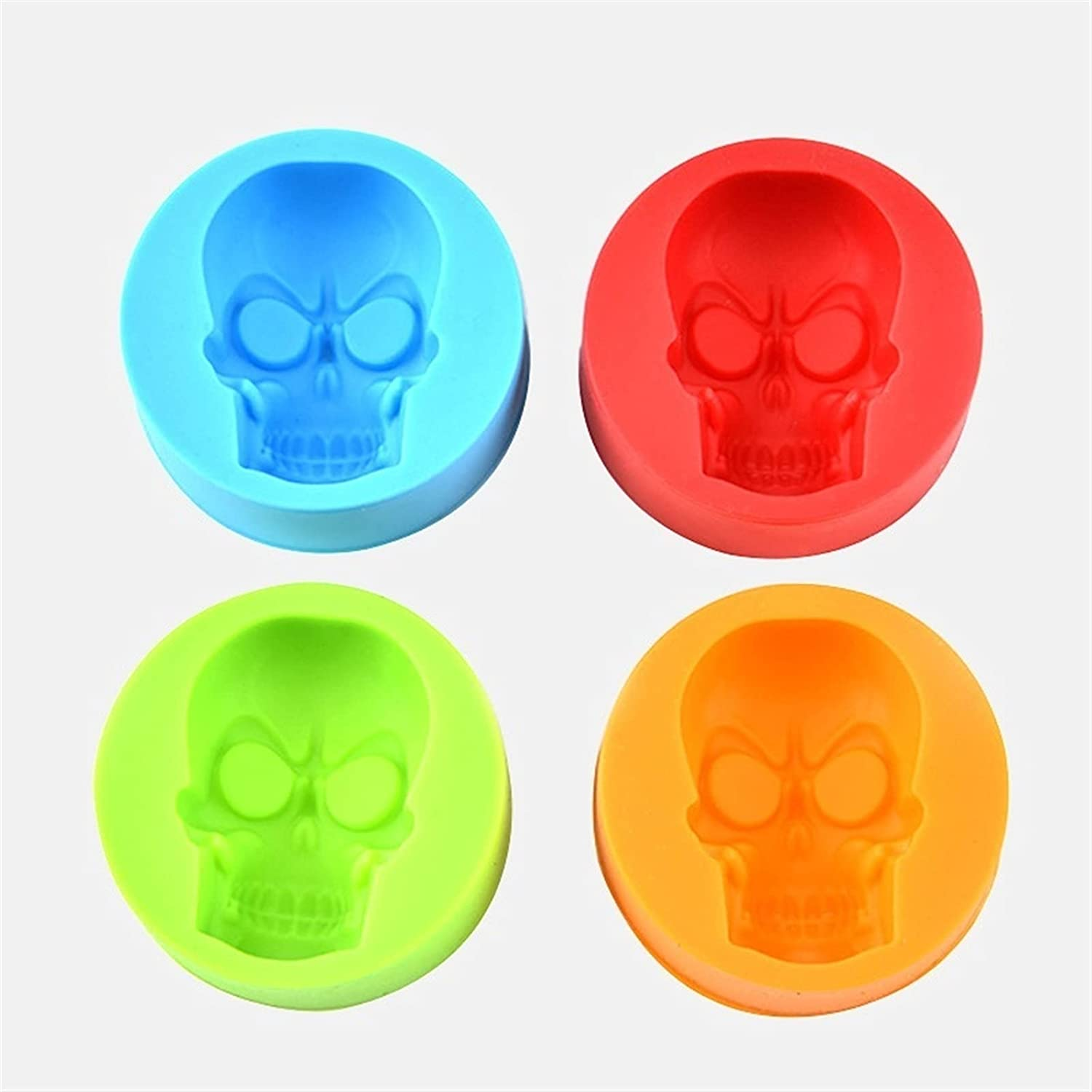 shop HXXgiefg Skull Shaped 3D Animer and price revision Mold Ice Maker Cube Tra Chocolate Mould