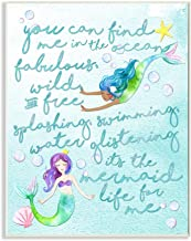 Stupell Home Décor Mermaid Life for Me Painting Wall Plaque Art, 10 x 0.5 x 15, Proudly Made in USA
