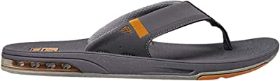Reef Fanning Low (Dark Grey/Orange) Men