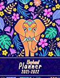 Elephant Planner 2021-2022: Unique and Cute Elephant and Floral Cover Design, Two Year Agenda Planner For School, Work, Business, Entrepreneurs, ... Focus Planner For Time Management an Goals.